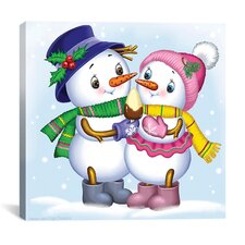 """Two Snowmen"" Canvas Wall Art by Olga and Aleksey Drozdov"