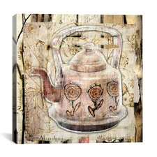 'Tea Pot' by Luz Graphics Graphic Art on Canvas