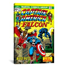Marvel Comics Captain America and The Falcon Issue Cover #171 Graphic Art on Canvas