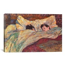 'The Bed' by Henri De Toulouse-Lautrec Painting Print on Canvas