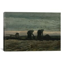 """""""Two Women on the Heath' by Vincent Van Gogh Painting Print on Canvas"""