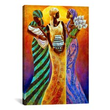 Sisters of the Sun by Keith Mallett Graphic Art on Canvas