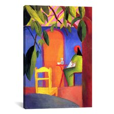 'Turkish Café' by August Macke Painting Print on Canvas