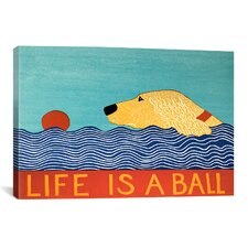 Life Is a Ball Gold Golden Canvas Print Wall Art