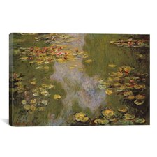 'Water Lilies 1919' by Claude Monet Painting Print on Canvas