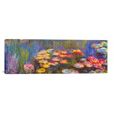 'Water Lilies' by Claude Monet Painting Print on Canvas
