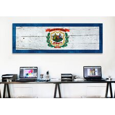 Flags West Virginia Wood Planks Panoramic Graphic Art on Canvas