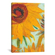 'Twelve Sunflowers (Detail)' by Vincent Van Gogh Painting Print on Canvas