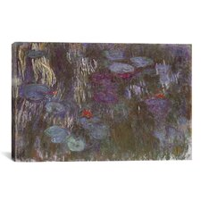 'Water Lilies up Close' by Claude Monet Painting Print on Canvas