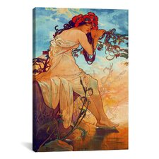 'Summer' by Alphonse Mucha Painting Print on Canvas