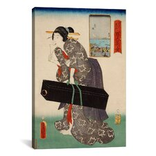 'Takanawa Japanese' by Kunisada (Toyokuni) Painting Print on Canvas