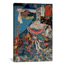 'Takazaki Station' by Kuniyoshi Painting Print on Canvas
