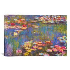 Water Lilies, 1916 by Claude Monet Painting Print on Canvas