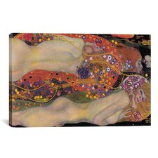 'Water Serpents II 1907' by Gustav Klimt Painting Print on Canvas