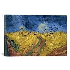 'Wheatfield with Crows' by Vincent Van Gogh Painting Print on Canvas
