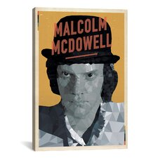 'Malcolm McDowell' by American Flat Graphic Art on Canvas