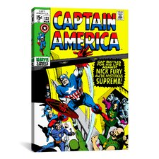 Marvel Comics Book Captain America Issue Cover 123 Graphic Art on Canvas