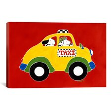 """Taxi!"" Canvas Wall Art by Shelly Rasche"