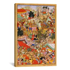 Hindu Tayang Khan Presented with Head of Mongol Leader Ong Khan Painting Print on Canvas