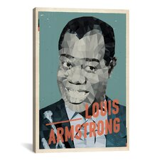 American Flat Louis Armstrong Graphic Art on Canvas