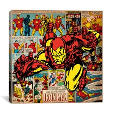 Marvel Comics Iron Man Cover and Panel Graphic Art on Canvas