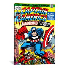 Marvel Comics Captain America Issue Cover Graphic Art on Canvas