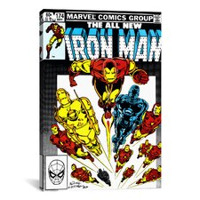 Marvel Comics Book Iron Man Issue Cover #174 Graphic Art on Canvas