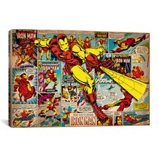 Marvel Comics Iron Man on Iron Man Cover and Panel Graphic Art on Canvas