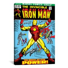 Marvel Comics Book Iron Man Issue Cover #47 Graphic Art on Canvas