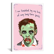 Long Term Zombie Goals Canvas Print Wall Art