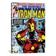 Marvel Comics Book Iron Man Issue Cover #170 Graphic Art on Canvas