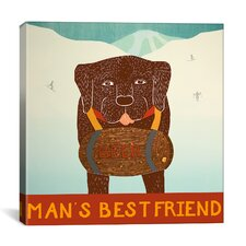 Man's Best Friend Choc Canvas Print Wall Art