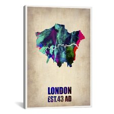 London Watercolor Map II by Naxart Graphic Art on Canvas