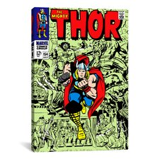 Marvel Comics Book Thor Issue Cover #154 Graphic Art on Canvas