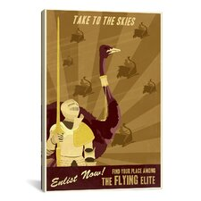 The Flying Elite Canvas Print Wall Art