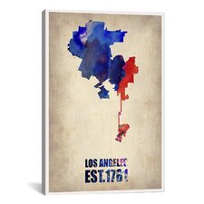 Los Angeles Watercolor Map I by Naxart Graphic Art on Canvas