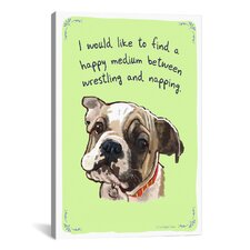 Typical English Bulldog Canvas Print Wall Art