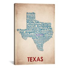 Texas Graphic Art on Canvas