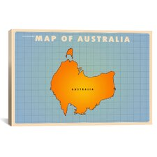 Upside Down Australia Graphic Art on Canvas