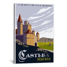 Witche's Castle Travel Canvas Print Wall Art