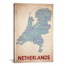 American Flat Netherlands Graphic Art on Canvas