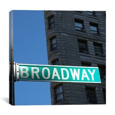New York City Broadway Canvas Wall Art by Nina Papiorek