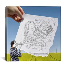 'Pencil with Camera 30 - Photographer' by Ben Heine Photographic Print on Canvas