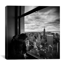 New York City Manhattan View Canvas Wall Art by Nina Papiorek