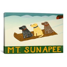 Mt. Sunapee Sled Dogs Canvas Wall Art by Stephen Huneck