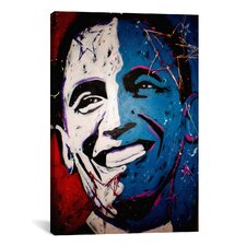 Obama Painting 001 Canvas Wall Art by Rock Demarco