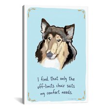 Obedient Collie Canvas Wall Art by Christopher Rozzi