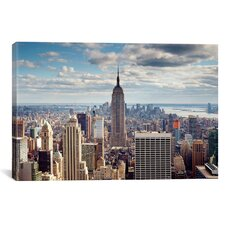 New York City The Empire Canvas Wall Art by Nina Papiorek