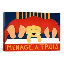 Menage Yell Canvas Wall Art by Stephen Huneck