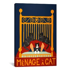 Menage A Cat Canvas Wall Art by Stephen Huneck